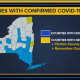 The latest update on counties with COVID-19 cases.