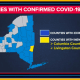 A look at counties with existing cases (in blue).