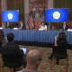 New York Gov. Andrew Cuomo at his daily COVID-19 briefing in Albany on Wednesday, March 25.