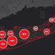 The Suffolk County COVID-19 map on Monday, April 27.