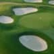 Moonlike-sand traps at Trump National Golf Club in Somerset County