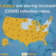 More than half the country has seen an increase in COVID-19 cases