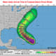 A look at projected timing for Tropical Storm-force winds.