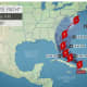 The projected path of Hurricane Isaias by AccuWeather.