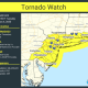 A look at areas (in yellow) covered by the Tornado Watch.