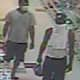 Surveillance footage of the wanted man and his associate