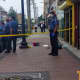 Another angle of the scene of a fatal stabbing -- taped off by Lakewood police on Monday. (Courtesy/ The Lakewood Scoop)