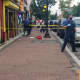 Lakewood police seal off Monday's crime scene where a man was fatally stabbed. (Courtesy/ The Lakewood Scoop)