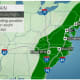 A look at the wet weather pattern on Tuesday, Sept. 29.
