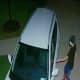 Surveillance footage of one of the car break-ins