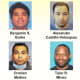 "Eight of the 12 men busted in ""Operation Spotlight."""