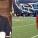 Buffalo Bills quarterback Josh Allen joined Gov. Andrew Cuomo via video during a news briefing.