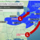 A second scenario has the Super Sunday storm taking a similar track to this past week's Nor'easter.