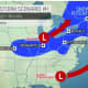 One forecast track has the potentially major storm tracking farther north and inland.