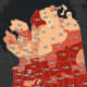 The Nassau County COVID-19 map on Tuesday, Feb. 9.
