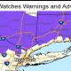 A Winter Weather Advisory is in effect from 4 a.m. Tuesday, Feb. 9 to 1 a.m. Wednesday., Feb. 10 for the areas shown above.