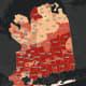 The Nassau County COVID-19 map on Thursday, Feb. 18.
