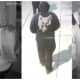 Still images of armed robbers in a Gloucester City home on Sunday.