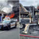 Driver Injured After Truck Fire At Danbury Road Shopping Complex