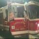 Firefighters Battle Blaze On Jersey Shore