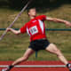 The javelin event in track-and-field