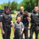 South Jersey Police Officers Visit Young Hit-Run Survivor With K-9 Echo
