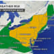 The threat for severe weather covers a large area in the Northeast.