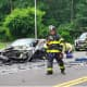 The scene of a fatal crash that killed a newlywed from Lakewood. (Photo courtesy The Lakewood Scoop)