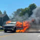 PHOTOS: Pickup Truck Fire Causes Delays In Sussex County