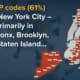 The bulk of the ZIP codes being targeted are in New York City.