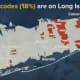 Long Island accounts for 18 percent of the ZIP codes being targeted.