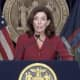 Kathy Hochul during her COVID-19 briefing on Thursday, Sept. 23.