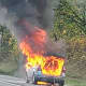 Car Goes Up In Flames On Route 78 In Hunterdon County