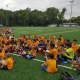 Kids wrapped up Saddle Brook junior soccer camp last week.