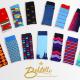 An assortment of socks by Balitello Performance Dress Socks.