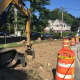 The work continues in Pelham, on a project to make pedestrians safer.