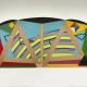 """Willis Avenue Bridge III"" (Asphalt felt, birch, pine and acrylic on canvas and wood armature) by J. Pindyck Miller"