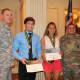 Nick Esposito and Jessica Lombardi both earned the US Army National Scholar Athlete Award