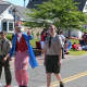 """""""Uncle Sam"""" marches with Boy Scouts in the New Fairfield 4th of July parade."""