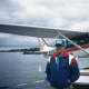 Tom Casey piloted a floatplane around the world.