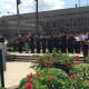 Clarkstown police officers pay tribute to the five officers killed and seven injured Thursday in Dallas.