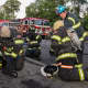 New City firefighters undergo a training exercise.
