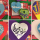Some of the 100 Hearts of Hope that will be sent to those in need of support, locally and abroad.