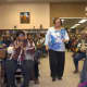 The crowd gathers for the Black History Month event at the Garfield Public Library in 2015.