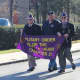 Military Order of the Purple Heart Chapter 21, with veterans Neil Gross, Dale Novak and Eugene Lang march in a Veterans Day parade in Shrub Oak.