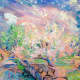 This oil on canvas painting by Dmitri Wright is called 'Weir Farm Cassie's Day.'