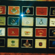 Logos from many different and famous golf clubs were included in a frame.