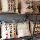 The Rye Brook store sells a number of unique, hand-stitched pillows.