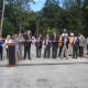 Rye Mayor Doug French, along with neighbors, city council members and officials from the Department of Transportation, cut the ribbon on the Central Avenue bridge.
