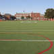 The Eastchester High School turf field is currently closed to the community.